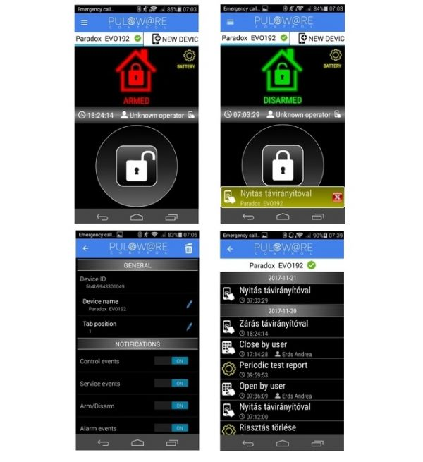alarm monitoring mobile app